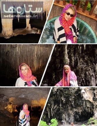 غار پیمایی بازیگر زن ایرانی در استرالیا +عکس