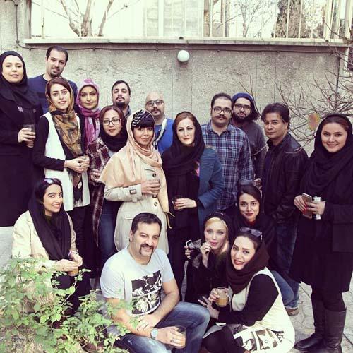جشن تولد ۴۳ سالگی محراب قاسم خانی در کنار همسر و فرزندان و شاگردانش + تصاویر