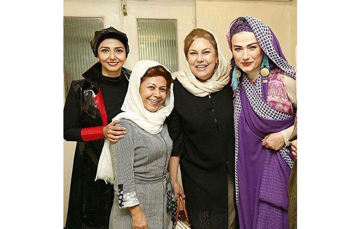 گریم متفاوت لادن مستوفی در نمایش جدیدش!+عکس