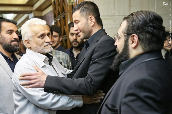 پدر مرتضی پاشایی در مراسم هفتم «حبیب محبیان»+تصاویر