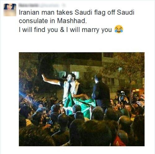 خواستگاری بازیگر زن خارجی از جوان مشهدی+عکس