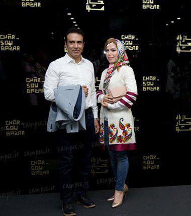 مزدک میرزایی مجری و گزارشگر ۴۶ ساله تلویزیون در کنار همسرش!+تصاویر