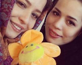 ملیکا شریفی نیا خواهرش مهراوه شریفی نیا را اینگونه غافلگیر کرد!+عکس