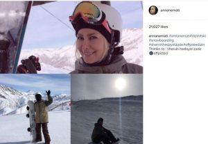 اسکی کردن آنا نعمتی