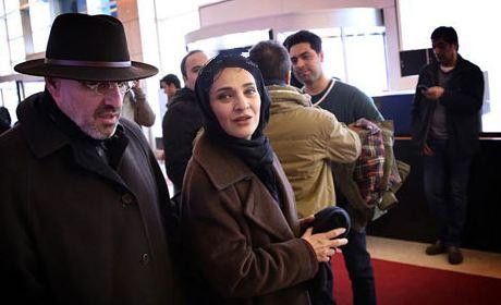 رویا نونهالی و همسرش در جشنواره