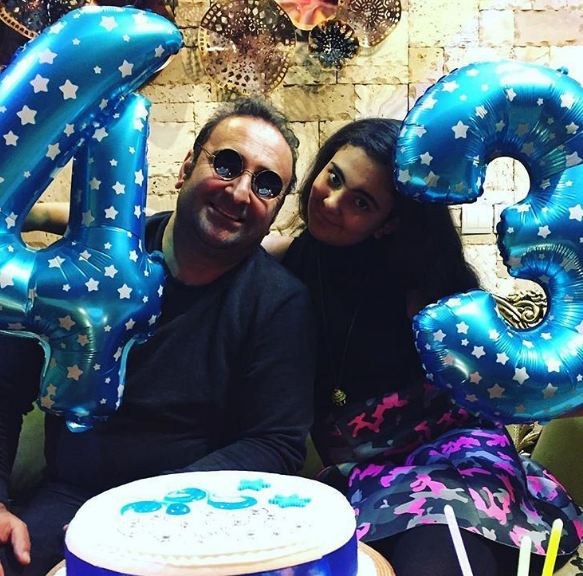 مهران احمدی بازیگر ایرانی و جشن تولدش در کنار دخترش!+تصاویر