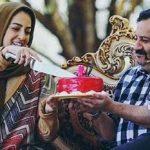 شقایق دهقان و جشن تولد وی در برنامه زنده رود شبکه اصفهان!+تصاویر