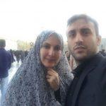 فاطمه گودرزی به همراه پسرش پویان گنجی در مشهد!+تصاویر
