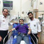 نجات امیر آتشانی بازیگر کشورمان توسط عوامل اورژانس تهران!