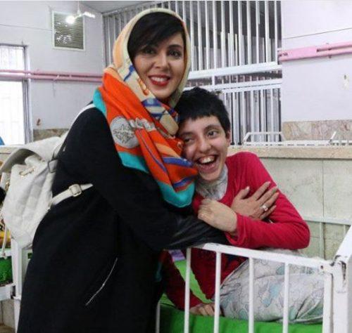 بازدید لیلا بلوکات از معلولین