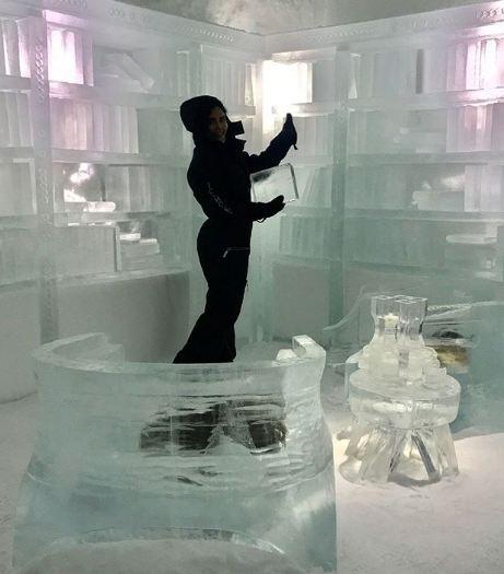 الناز شاکردوست در قطب شمال