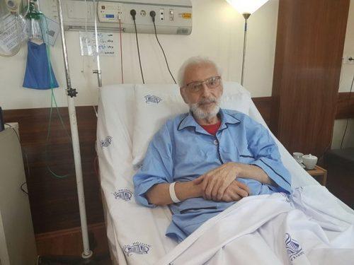 جمشید مشایخی در بیمارستان