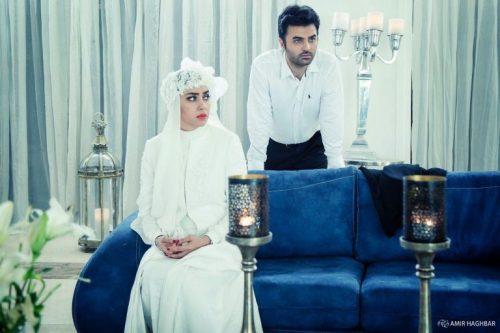 بهاره کیان افشار با لباس عروس