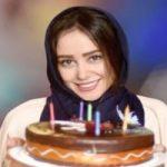 چهره متفاوت الناز حبیبی در جشن تولدش در آرایشگاه!