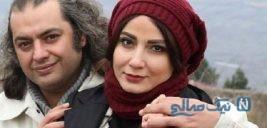 تصویری از آقای کارگردان در کنار همسر بازیگرش