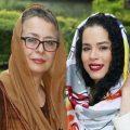 دو بازیگر زن و دخترانشان در یک قاب