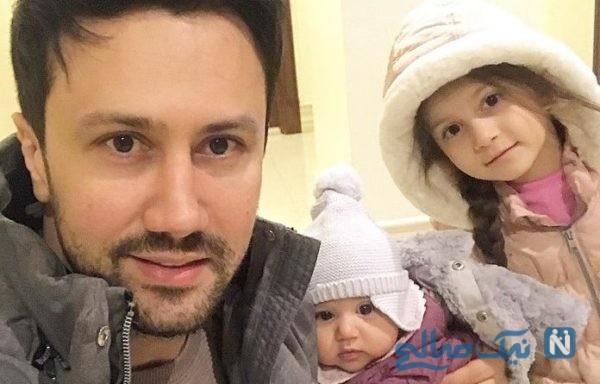 عکس شاهرخ استخری با دخترانش