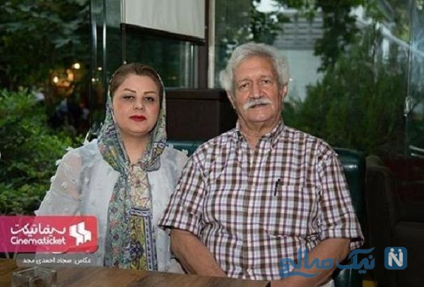 آتش تقی پور و همسرش