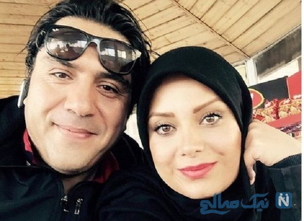 صبا راد و همسرش در حال تفریح عاشقانه در ساحل دریا