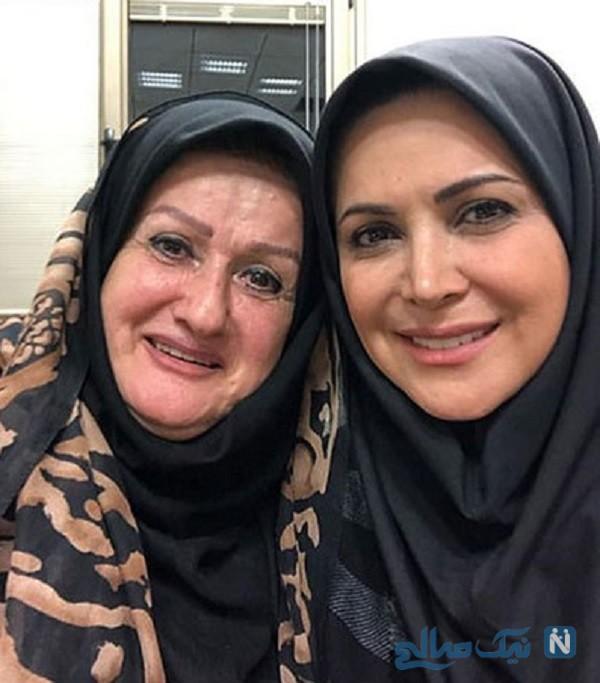 کمند امیرسلیمانی و مادرش