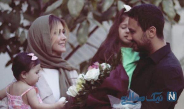 جدیدترین عکس همسر شاهرخ استخری به همراه دختران مو طلایی خود