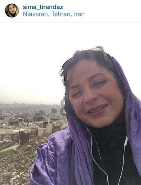 سیما تیرانداز بازیگر تئاتر و تلویزیون ایران+تصاویر