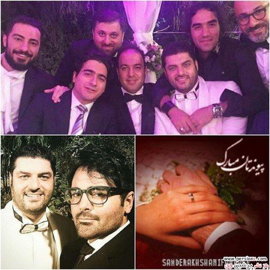 جشن عروسی سام درخشانی و همسرش با حضور هنرمندان+تصاویر