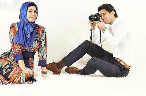 وحید طالب لو و همسرش در نمایی دیدنی+عکس