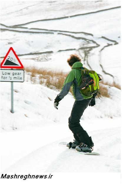 عکس/اسکی با دنده سنگین!