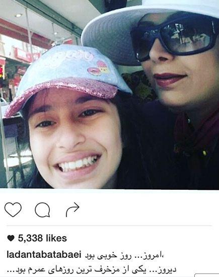 سلفی لادن طباطبایی و دخترش سهی!+عکس