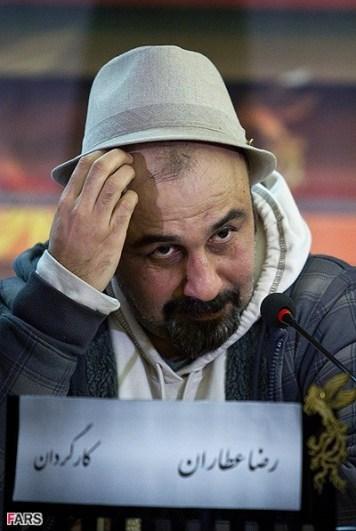 عکسی جالب از رضا عطاران در جشنواره فجر