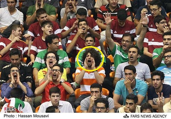 عکس/بازیگر و مجری مشهور در استادیوم