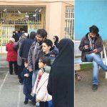 مهناز افشار و شهاب حسینی در صف رای+تصاویر