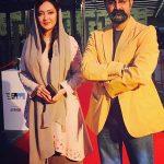 نیکی کریمی در کنار پدرش و کارگردان سینما+تصاویر