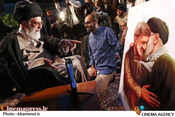 واکنش رهبر انقلاب با دیدن این نقاشی!+عکس
