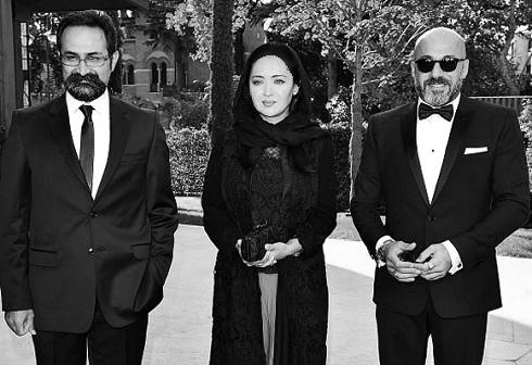 تیپ نیکی کریمی و امیر آقایی در فرش قرمز جشنواره ونیز+تصاویر