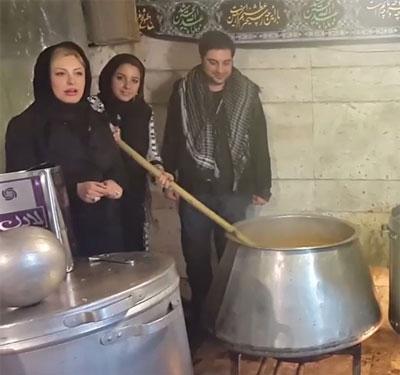 نیوشا ضیغمی و همسرش در حال و هوای محرم +عکس