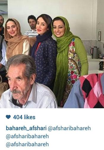 رفتن خانم های بازیگر به آسایشگاه به مناسبت روز پدر+عکس