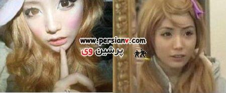 دختری که۲سال آرایش صورتش را پاک نکرد + عکس