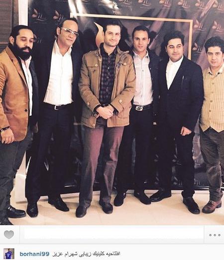 آرش برهانی در کنار بازیگر خط قرمز!+عکس