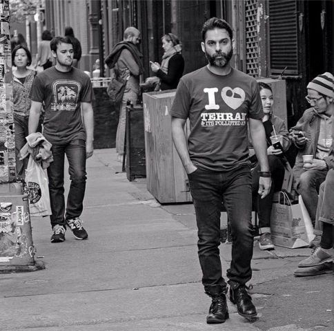تی شرت جالب پیمان معادی در نیویورک +عکس