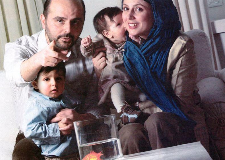 لیلا حاتمی و علی مصفا و فرزندانشان+تصاویر