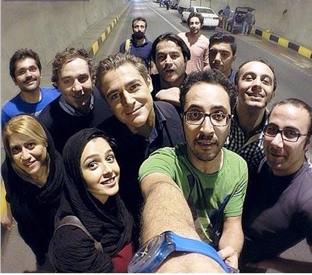 عکس یادگاری ترانه علیدوستی و محمدرضا گلزار در تونل!