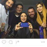 بهاره کیان افشار و بهرام رادان و سلفی گرفتن+تصاویر