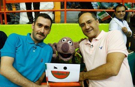 رامبد جوان و جناب خان در بازی ایران و آمریکا + عکس
