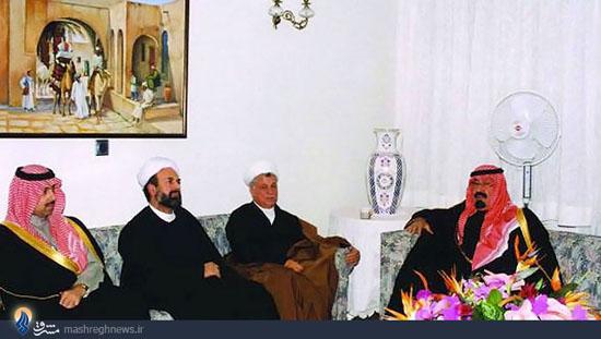 پادشاه عربستان در منزل هاشمی + عکس