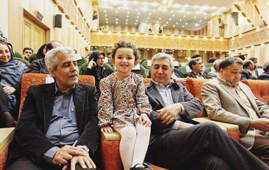 ابراهیم حاتمی کیا کارگردان سینما و نوه اش!+عکس