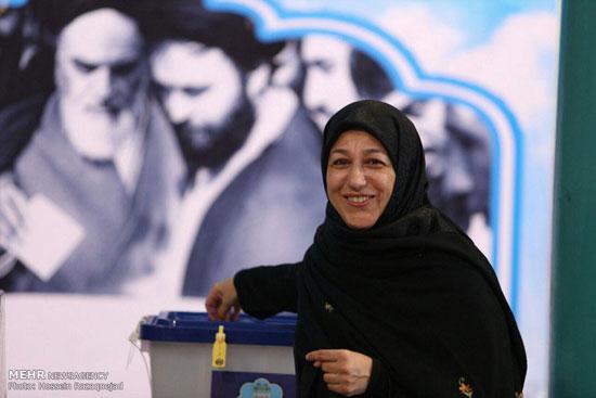 رای همسران جواد ظریف و هاشمی+تصاویر
