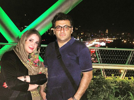 تصویر شهرام عبدلی بازیگر مرد ایرانی و همسرش+عکس