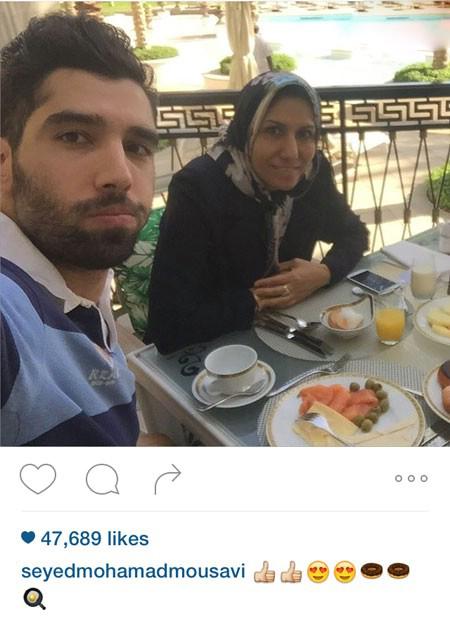سید محمد موسوی و مادرش در تعطیلات +تصاویر